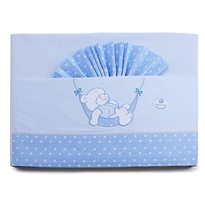 Color Azul Pirulos S/ábana Bajera Ajustable de Alta Calidad 100/% Algod/ón para Cuna de 60 x 120 cm//S/ábana Bajera Cuna Beb/é Alta Calidad